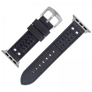 StrapWorks Woven Horlogebandje voor Apple Watch Donkerblauw
