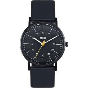 Braun BN0011BKBKL Horlogeband Zwart Leer