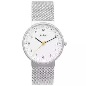 Braun BN0031WHSLMHL horlogeband Zilver Mesh (Milanese)
