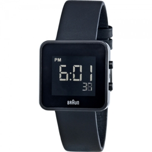 Braun BN0046BKBKL Horlogeband Zwart Leer