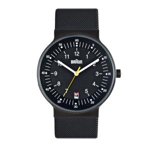 Braun BN0082BKBKMHG horlogeband Zwart Mesh (Milanese)