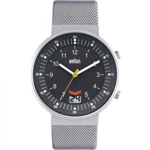 Braun BN0087GYSLMHG horlogeband Zilver Mesh (Milanese)
