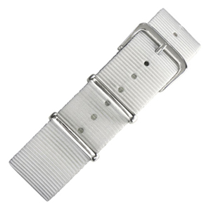 Wit NATO Nylon Horlogebandje - SS