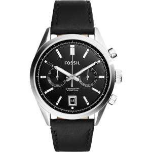 Fossil CH2972 Horlogeband Zwart Leer