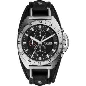 Fossil CH3003 Horlogeband Zwart Leer