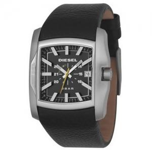 Diesel DZ1178 Horlogeband Zwart Leer