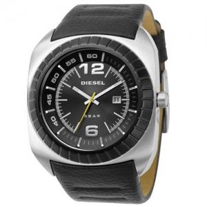 Diesel DZ1276 Horlogeband Zwart Leer