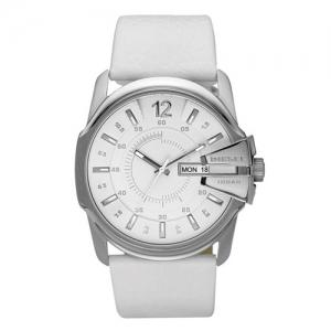 Diesel DZ1405 Horlogeband Wit Leer