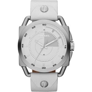 Diesel DZ1577 Horlogeband Wit Leer