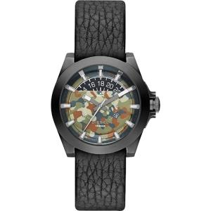Diesel DZ1700 Horlogeband Zwart Leer