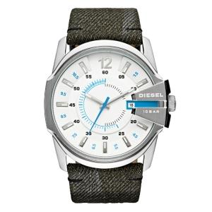 Diesel DZ1725 Horlogeband Grijs Leer