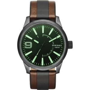 Diesel DZ1765 Horlogeband Bruin/Zwart Leer