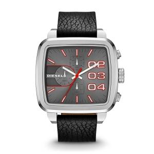 Diesel DZ4304 Horlogeband Zwart Leer