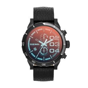 Diesel DZ4311 Horlogeband Zwart Leer