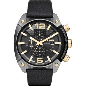 Diesel DZ4375 Horlogeband Zwart Leer