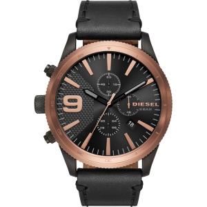 Diesel DZ4445 Horlogeband Zwart Leer
