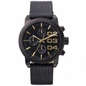 Diesel DZ5442 Horlogeband Zwart Leer