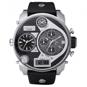 Diesel DZ7125 Horlogeband Zwart Leer