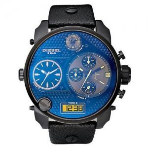 Diesel DZ7127 Horlogeband Zwart Leer