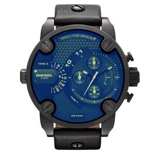 Diesel DZ7257 Horlogeband Zwart Leer