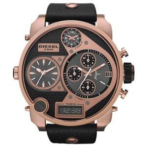 Diesel DZ7261 Horlogeband Zwart Leer