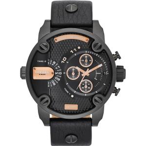 Diesel DZ7291 Horlogeband Zwart Leer