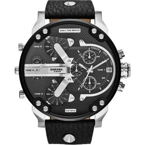 Diesel DZ7313 Horlogeband Zwart Leer