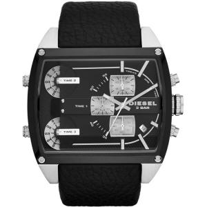 Diesel DZ7326  Horlogeband Zwart Leer