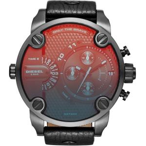 Diesel DZ7334 Horlogeband Zwart Leer
