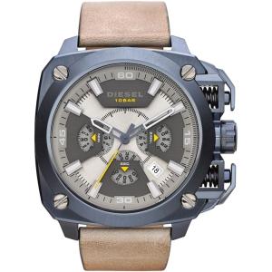 Diesel DZ7342 Horlogeband Beige Leer