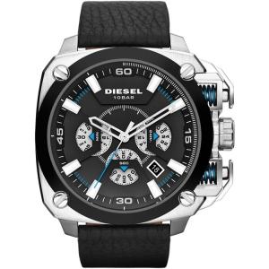 Diesel DZ7345 Horlogeband Zwart Leer
