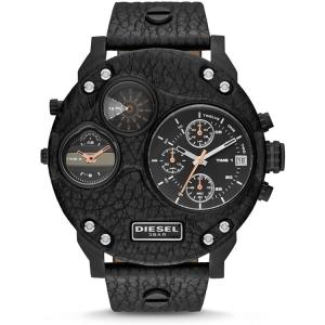 Diesel DZ7354 Horlogeband Zwart Leer