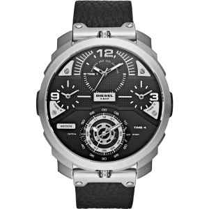 Diesel DZ7379 Horlogeband Zwart Leer