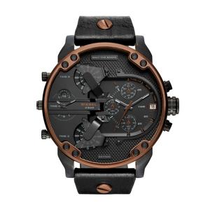 Diesel DZ7348 Horlogeband Zwart Leer