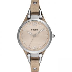 Fossil Georgia ES2830 Horlogeband Beige Leer