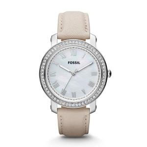 Fossil ES3189 Horlogeband Beige Leer