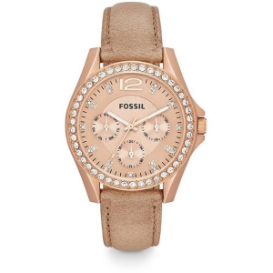 Fossil ES3363 Horlogeband Beige Leer