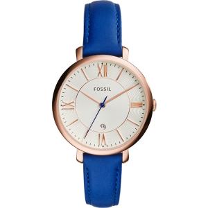 Fossil ES3795 Horlogeband Blauw Leer