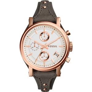 Fossil ES3818 Horlogeband Grijs Leer