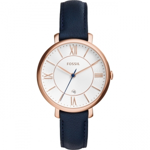 Fossil Jacqueline ES3843 Horlogeband Blauw Leer
