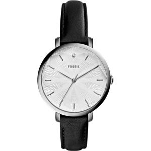 Fossil ES3865 Horlogeband Zwart Leer