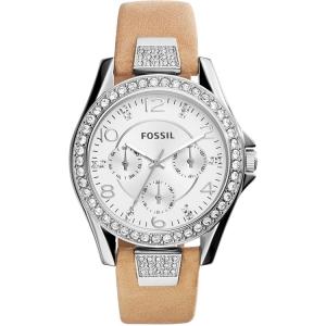 Fossil ES3889 Horlogeband Bruin Leer