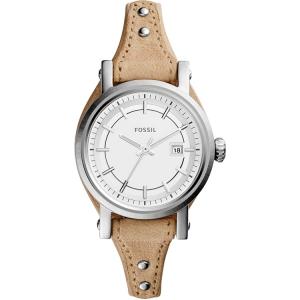 Fossil ES3908 Horlogeband Beige Leer