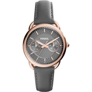 Fossil ES3913 Horlogeband Grijs Leer