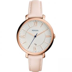 Fossil Jaqueline ES3988 Horlogeband Roze Leer