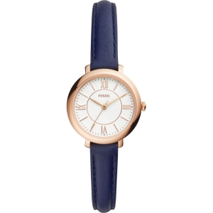 Fossil Jaqcueline Mini ES4410 Horlogeband Blauw Leer
