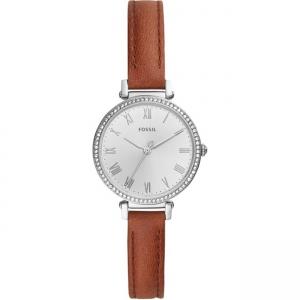 Fossil Kinsey ES4446 Horlogeband Bruin Leer