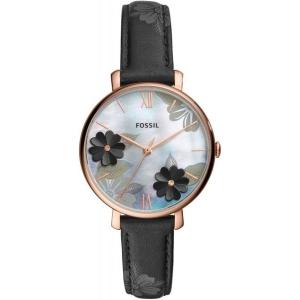 Fossil ES4535 Horlogeband Zwart Leer
