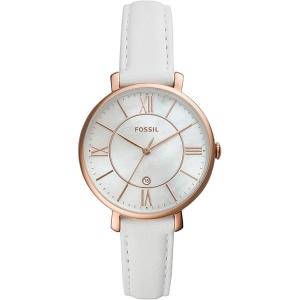Fossil ES4579 Horlogeband Wit Leer