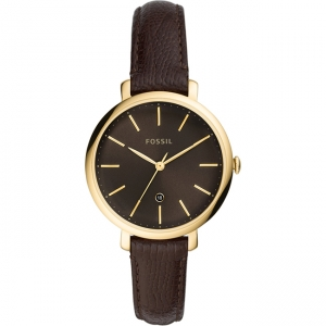 Fossil Jacqueline ES4969 Horlogeband Bruin Leer